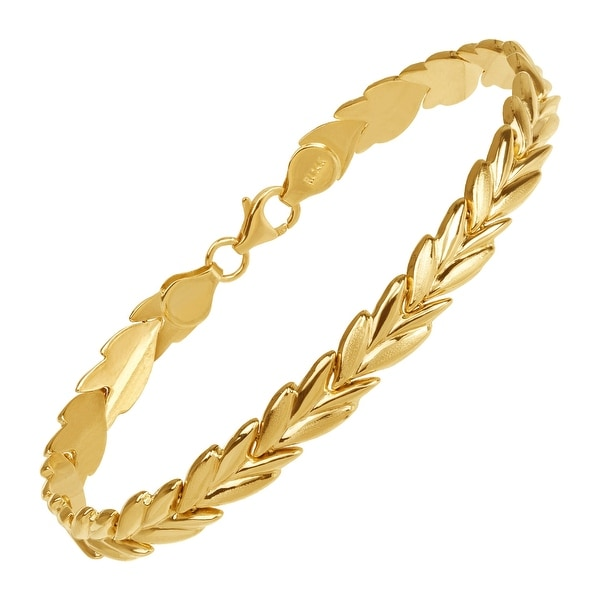 Eternity Gold Vine Link Chain Bracelet in 14K Gold