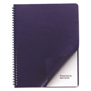 Swingline Leather Look Binding System Covers, Navy Leather Look Binding System Covers, 100 Sets/Box