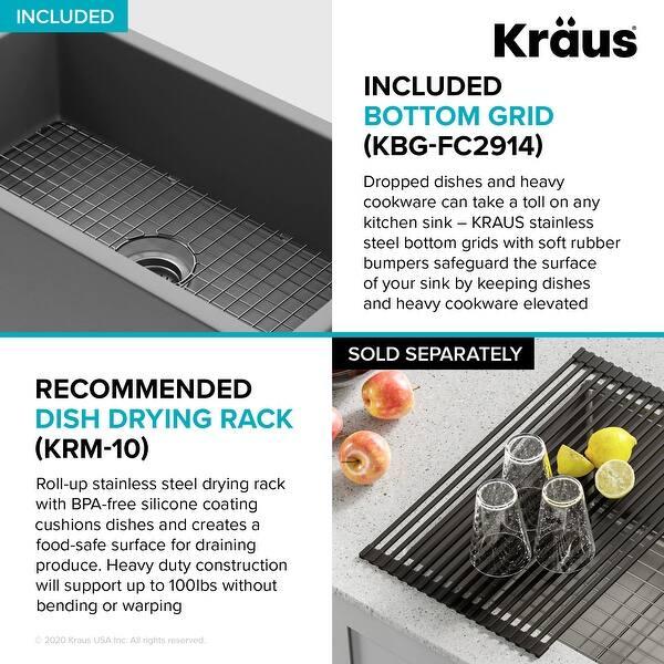 Kraus Turino 33 In Farmhouse Apron Front Fireclay 1 Bowl Kitchen Sink Overstock 27753981 Size 33 X 18 25 Bowl 30 25 X 15 5 Kfr1 33 Glossy White