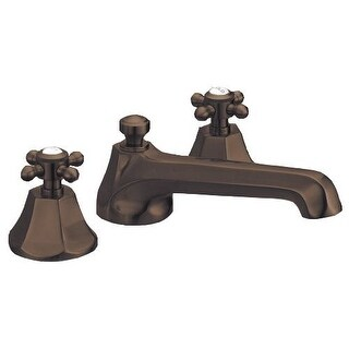 Mirabelle MIRBR3RT Boca Raton Deck Mounted Roman Tub Faucet Trim with Metal Cross Handles (Valve Included)