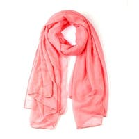 Soft Lightweight Long Scarves With Solid Color Shawl For Women Men Coral Pink