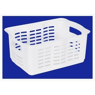 Rubbermaid FG522606WHT White Basket Stackable - Medium Pack Of 6