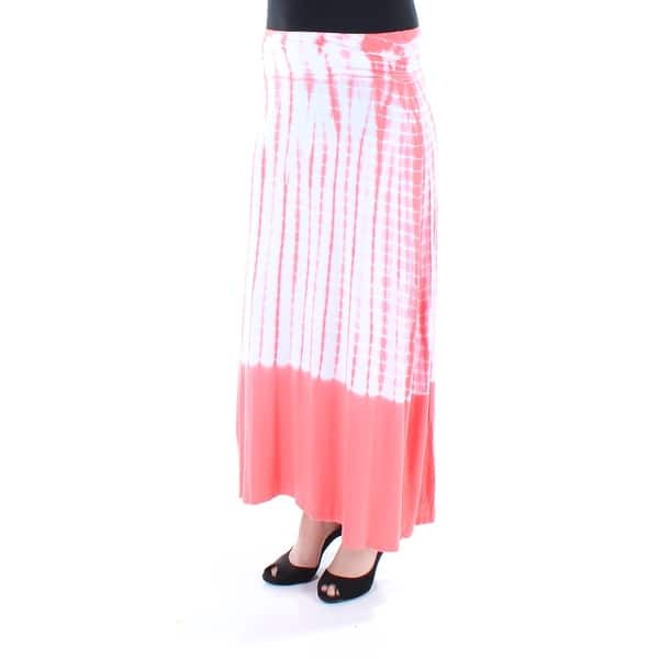 fdc70409a3cd35 Shop KENSIE Womens Coral Tie Dye Maxi Pencil Skirt Size  S - On Sale ...