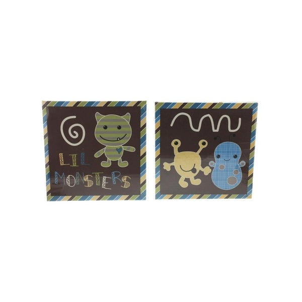 CoCaLo Baby Wall Decor Set Canvas Monsters