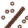 TierraCast Antique Copper Plated Pewter Daisy Spacer Beads 3mm (50) - Thumbnail 0