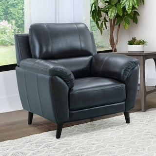 Link to Strick & Bolton Granville Top-grain Leather Arm Chair Similar Items in Living Room Chairs