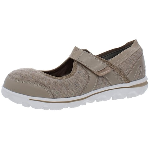 Propet Womens Onalee Slip-On Sneakers Knit Mary Jane