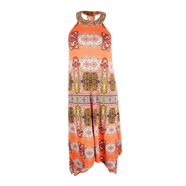 13a9f0ee729c8 Shop INC International Concepts Women's Beaded Maxi Dress (XL, Blissful  Medallion) - blissful medallion - xL - Free Shipping On Orders Over $45 -  Overstock ...