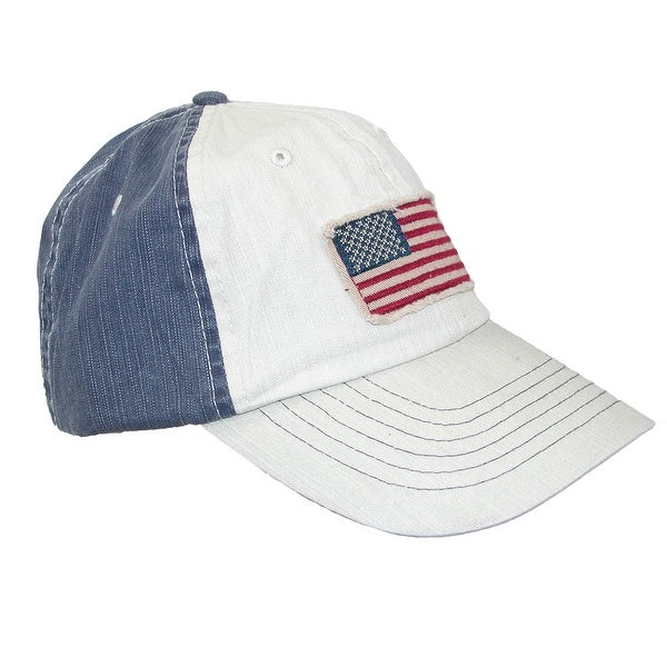 DPC Global Trends Cotton American Flag Baseball Cap with Solid Back