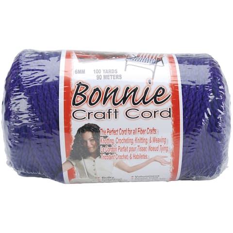Bonnie Macrame Craft Cord 6mmX100yd-Purple - Purple