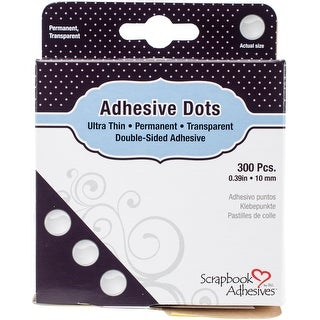 "Scrapbook Adhesives Medium Ultra Thin Dots 300/Pkg-Permanent, .39"""
