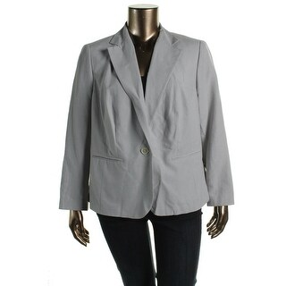 Lauren Ralph Lauren Womens Plus Slik Slub One-Button Suit Jacket - 14W