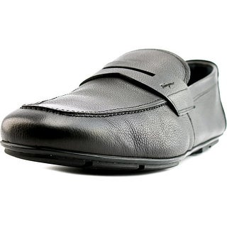 Salvatore Ferragamo Nuevo 2E Round Toe Leather Loafer