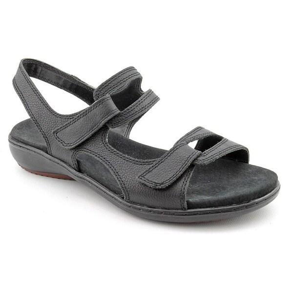 Trotters Katarina Women N/S Open-Toe Leather Black Sport Sandal