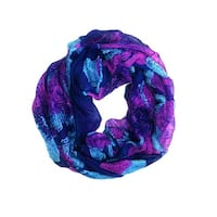 Women's Floral Lightweight Soft Infinity Loop Scarves - size:circumference 68 inches x 36 inches