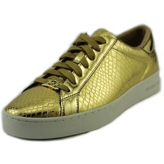 Michael Michael Kors Keaton Sneaker Women Round Toe Synthetic Gold Sneakers