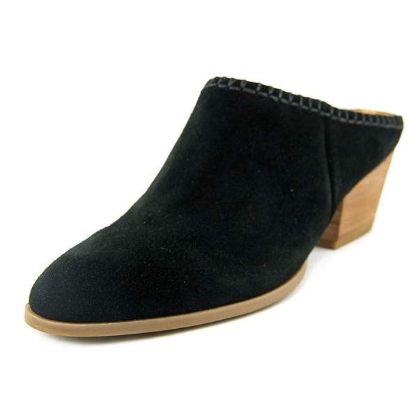 Franco Sarto Galleon Women Round Toe Suede Black Mules