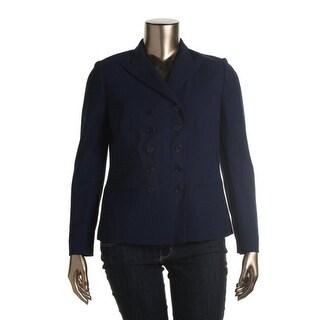 Lauren Ralph Lauren Womens Wool Double-Breasted Blazer - 6