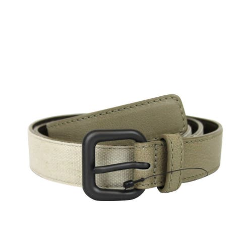 Bottega Veneta Unisex Beige Canvas / Leather Belt 283974 2900
