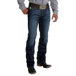 Cinch Western Denim Jeans Mens Slim Fit Ian Mid Dark Wash MB63536001