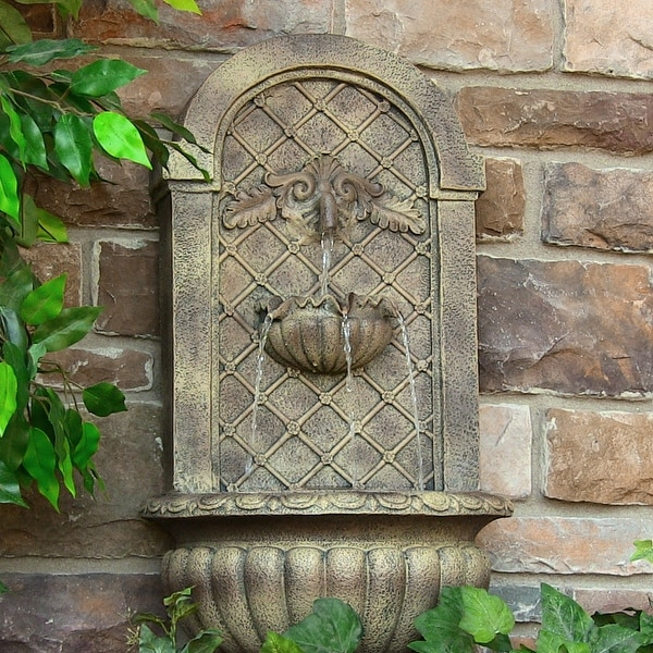 Sunnydaze Venetian Outdoor Wall Fountain-Multiple Colors Available