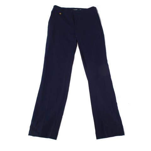 Lauren By Ralph Lauren Blue Womens Size 6 Straight Leg Dress Pants