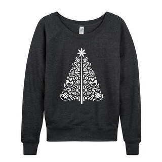 Scandinavian Christmas Tree Simple - Ladies French Terry Pullover