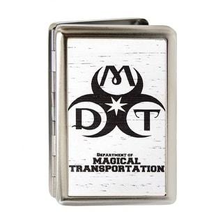 Dmt Department Of Magical Transportation Symbol Gw White Business Card Business Card Holder