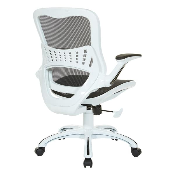 Shop Osp Riley Office Chair With White Mesh Seat And Back On Sale Overstock 14638099 White