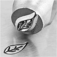 ImpressArt Metal Punch Stamp 'Right Leaf' 6mm (1/4 Inch) Design - 1 Piece