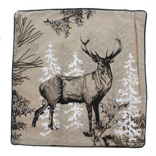 Deer in Woods Pillow