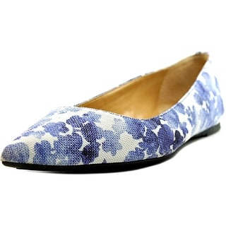 Michael Michael Kors Arianna Flat Women Pointed Toe Canvas Blue Flats