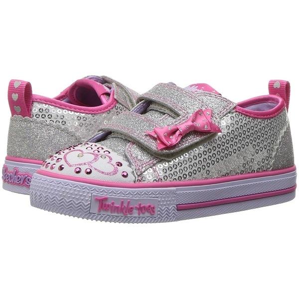 Itst Bitsy Sneakers Purple//Blue Toddler Girl/'s Skechers S Lights Shuffles