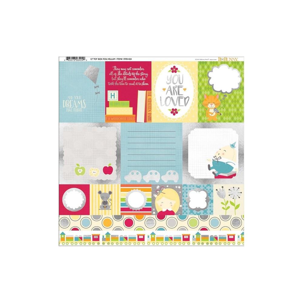 Bo Bunny Toy Box Paper 12x12 Vellum Foil