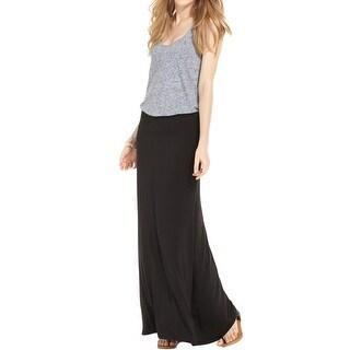 Kensie Womens Maxi Skirt Matte Jersey Comfort Waist