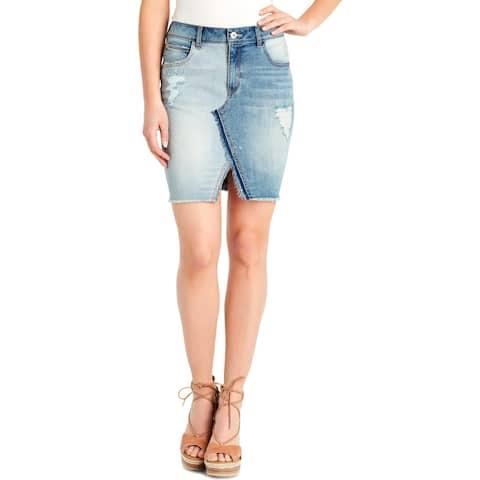 Jessica Simpson Womens Adorn Denim Skirt Denim Distresed - 25