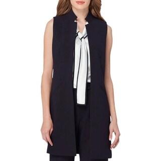 Tahari ASL Womens Vest Long Crepe - 14