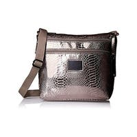 Rosetti Womens Cool And Collected Crossbody Handbag Metallic Faux Leather