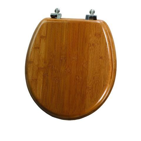 Mayfair 9401NI-568 Natural Reflections Round Toilet Seat w/Metal Hinge, Solid Bamboo