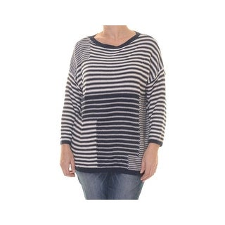 American Living Striped Printed Three Quarter Sleeve Sweater - xL