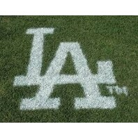MLB Los Angeles Dodgers Lawn Logo Paint Stencil - White