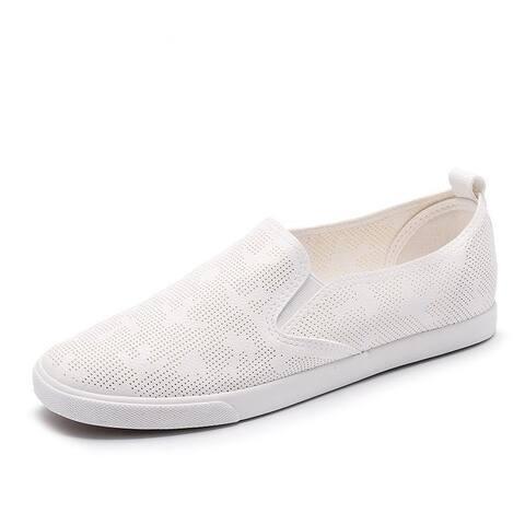 Women Hole Breathable Footwear Flat Shoes