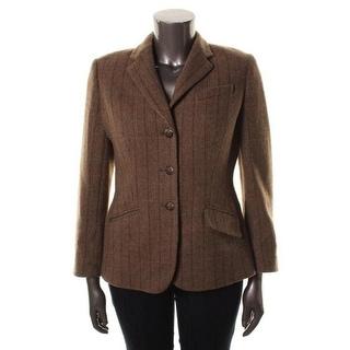 Ralph Lauren Womens Wool Pattern Three-Button Blazer - 16
