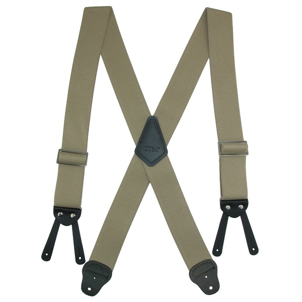 CTM® Men's Big & Tall Elastic Basic Work Suspender - one size