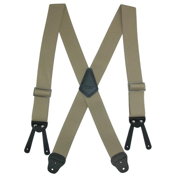 CTM® Men's Big & Tall Elastic Basic Work Suspender