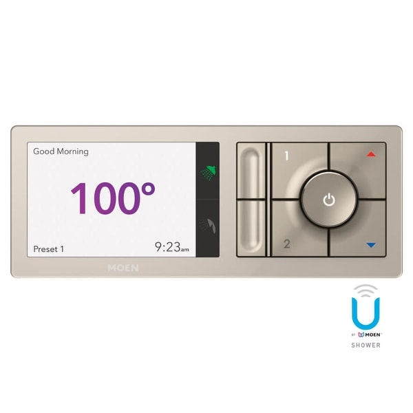 """Moen TS3302 U by Moen Digital Shower Controller- 2 Outlet trim pad with 1/2"""" Connections and Wifi Technology"""