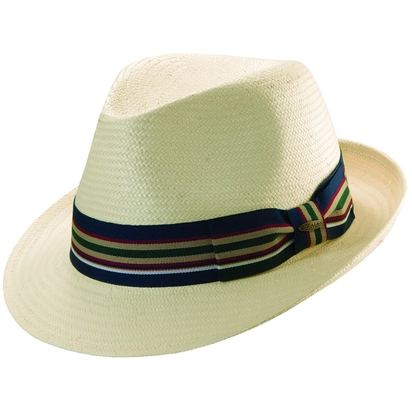 Shop Scala Men s Toyo Straw Ivory Fedora Hat - Free Shipping On ... 830d9523935