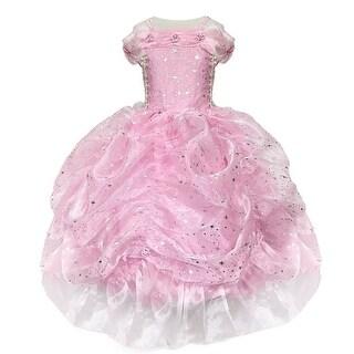 Calla Collection Girls Pink Glitter Star Pick-Up Halloween Dress