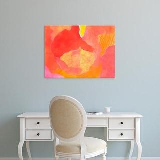 Easy Art Prints Carolyn Roth's 'Cabbage Rose II' Premium Canvas Art