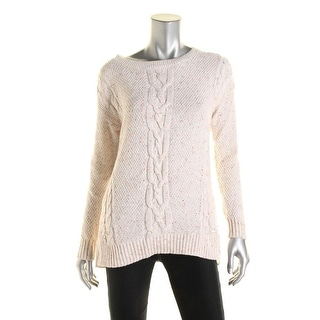 Tommy Hilfiger Womens Cable Knit Crew Neck Pullover Sweater